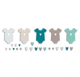 Die-cuts 'Toga' 20 Formes Body Bleu/Taupe
