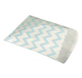 Lot de 25 sachets papier 'Rayher - Homemade Goodies' Chevrons Bleus 18.5x13 cm