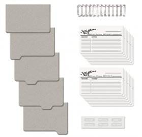 Kit Livre de recettes Cinch 'We R Memory Keepers' 30x30 cm