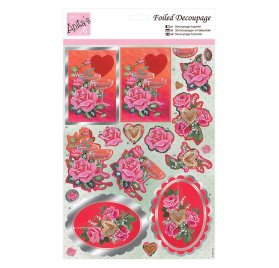 Découpage 3D 'Docrafts - Anita's' Champagne & Roses