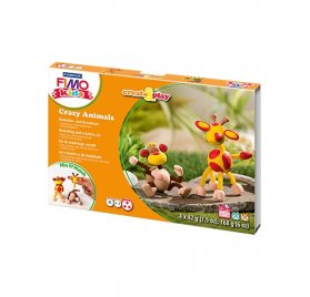 Kit de modelage créatif Kids 'Fimo' Crazy Animals Singe & Girafe
