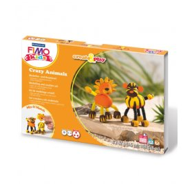 Kit de modelage créatif Kids 'Fimo' Crazy Animals Lion & Tigre