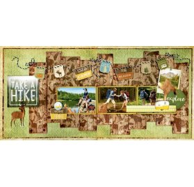 Kit scrapbooking 30x30 'BoBunny - Take a Hike'