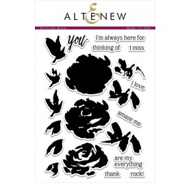 Tampons transparents 'Altenew' Painted Rose