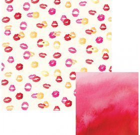 Papier double 30x30 'We R Memory Keepers - Urban Chic' Kiss Kiss