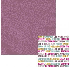 Papier double 30x30 'We R Memory Keepers - Urban Chic' Wanderlust