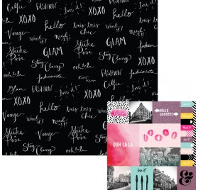 Papier double 30x30 'We R Memory Keepers - Urban Chic' Tres Tres Chic