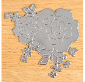 Plaque d'impression en relief 'TODO - Hot Foil Press' Rose Blossom