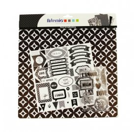 Kit scrapbooking 30x30 'Artemio - Black & White'