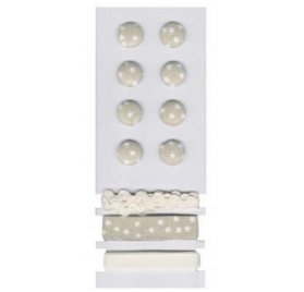 Boutons et rubans 'Rayher' Etoiles Beige/Blanc