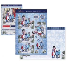 Kit Carte Découpage 'Hunkydory Crafts - The Joy of Christmas' Frosty The Snowman