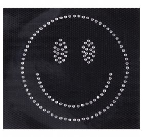Ecusson thermocollant Strass 'Rico Design - Made by Me' Smiley