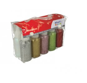 Set de Vernis pailletés 'Artemio' 10 x 50 ml