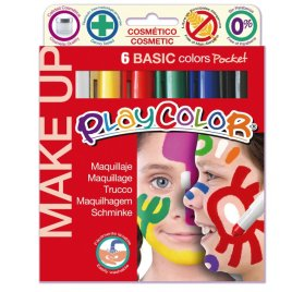 Boîte de 6 sticks de maquillage 'Playcolor' Make Up Pocket Basic 6x5g