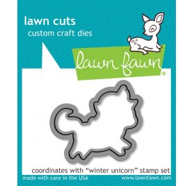 Die / Matrice de découpe 'Lawn Fawn' Winter Unicorn