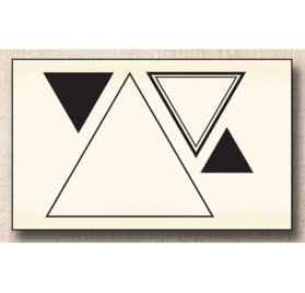 Tampon bois 'Swirlcards' Triangles