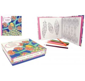 Kit Album Coloriage 20x20 'Artemio' Flower Power