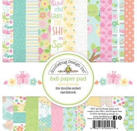 Assortiment 15x15 'Doodlebug - Cream and Sugar' Qté 24