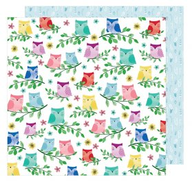 Papier double 30x30  'American Crafts - Little by Little' Birds of a Feather