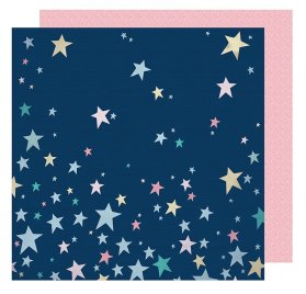 Papier double 30x30  'American Crafts - Little by Little' Shine Bright