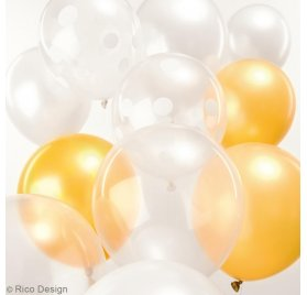 Ballons 'Rico Design' Blanc Mix