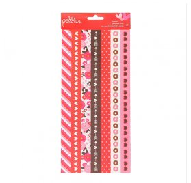 Autocollants 'Pebbles - My Funny Valentine' Washi Tape Strips Qté 21