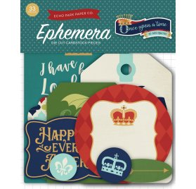 Assortiment de die-cuts 'Echo Park Paper - Once upon a time' Ephemera Qté 33