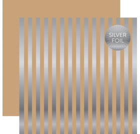 Papier double 30x30 'Echo Park Paper - Silver Foil' Light Mint