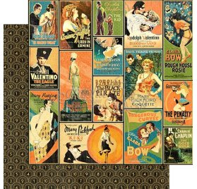 Papier double 30x30 'Graphic 45 - Vintage Hollywood'