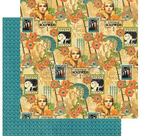 Papier double 30x30 'Graphic 45 - Vintage Hollywood' Tinseltown