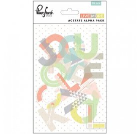 Assortiment Alphabet Acetate 'Pinkfresh Studio - Live more' 55 pcs