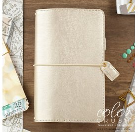 Carnet de voyage 'Webster's Pages - Color Crush' Travelers Notebook Champagne