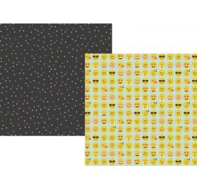 Papier double 30x30 'Simple Stories - Emoji Love' Yay