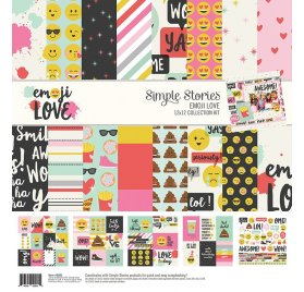 Assortiment 30x30 'Simple Stories - Emoji Love' Collection Kit