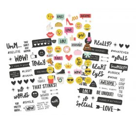 Autocollants transparents 'Simple Storie - Emoji Love' Qté 107