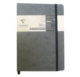 Carnet 14.8x21 cm 'Clairefontaine - Age Bag' Gris 192 Pages à quadrillage pois 90 g/m²