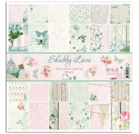 Assortiment A4 'Toga-Shabby Love ' Qté 6