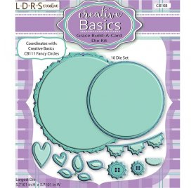 Dies/Matrices de découpe 'LDRS Creative - Creative Basics' Grace Build-A-Card Qté 10