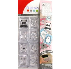 Tampon transparent 'Artemio-Adorable' Timbres  Qté 12