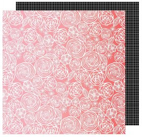Papier double 30x30 'American Crafts - On a Whim' Think Pink