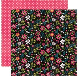 Papier double 30x30 'Echo Park Paper - Summer Fun' Summer Blossoms