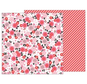 Papier double 30x30 'Pebbles - My Funny Valentine' Pretty in Pink