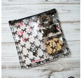 Trousse 'Freckled Fawn' Black Bows