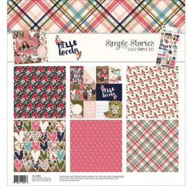 Assortiment 30x30 'Simple Stories - Hello Lovely'