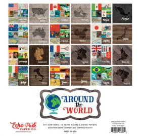 Assortiment 30x30 'Echo Park Paper - Around The World'