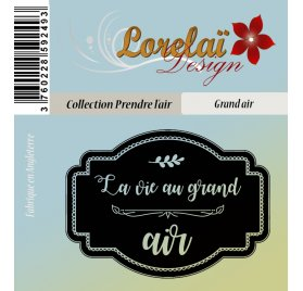 Tampon transparent 'Lorelaï Design - Prendre l'air' Grand air