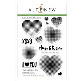 Tampons transparents 'Altenew' Haftone Hearts