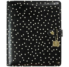 Organiseur vide A5 'Simple Stories - Carpe Diem Planner' Noir à pois blancs