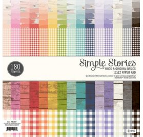 Assortiment 30x30 'Simple Stories' Wood & Gingham Qté 180