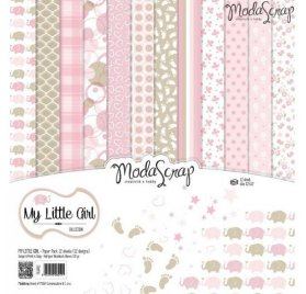 Assortiment 30x30 'Modascrap' My Little Girl Qté 12